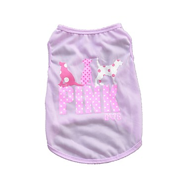 cheap Dog Clothes-Cat Dog Shirt / T-Shirt Vest Animal Birthday Holiday Casual / Daily Birthday Winter Dog Clothes Purple Green Rose Costume Terylene XS S M L