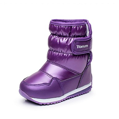 preiswerte Schuhe für Kinder-Mädchen Komfort / Schneestiefel Kunststoff / Kunstleder Stiefel Kleine Kinder (4-7 Jahre) Walking Klettverschluss Schwarz / Purpur / Fuchsia Winter