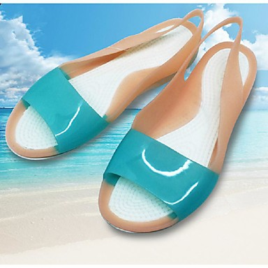 700f7b09e1e5 Ženske Sandale Hodanje Gumene sandale PVC Ljeto Ravna potpetica Obala  Fuksija Braon Plava Ravne iz 5312371 2019 . –  13.99