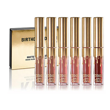Liquid Lip Gloss 6 pcs Matte Long Lasting Professional / fast dry Cosmetic Daily / Birthday Party Grooming Supplies 5310885 2019 – $14.24