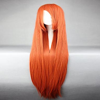 วิกผมสังเคราะห์ วิกคอสตูม Straight ตรง ผมปลอม ส้ม สังเคราะห์ สำหรับผู้หญิง แดง hairjoy