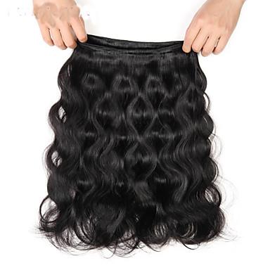 povoljno Ekstenzije od ljudske kose-3 paketa Indijska kosa Tijelo Wave Virgin kosa Ljudske kose plete Isprepliće ljudske kose 8a Proširenja ljudske kose / 10A