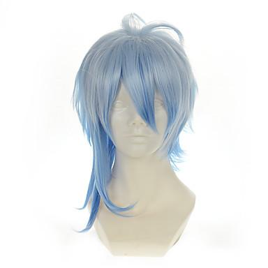 วิกส์คอร์สเพลย์ วิกผมสังเคราะห์ วิกคอสตูม Straight ตรง ผมปลอม Blue สังเคราะห์ สำหรับผู้หญิง ฟ้า