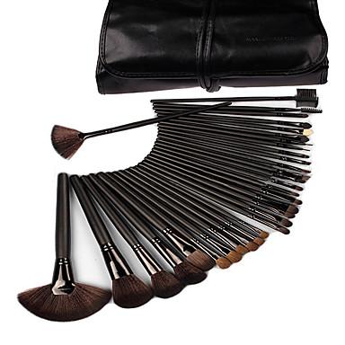 cheap Makeup Brush Sets-Professional Makeup Brushes Blush Brush 32pcs Travel Professional Full Coverage Wood Makeup Brushes for