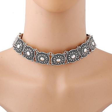 Žene Choker oglice Izjava Ogrlice Statement dame Vintage Boemski stil Legura Pink Ogrlice Jewelry Za Party Dnevno Kauzalni