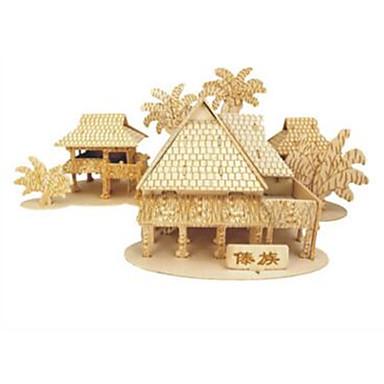 voordelige 3D-puzzels-Houten puzzels Chinese architectuur professioneel niveau Hout Bamboe 1 pcs Jongens Meisjes Speeltjes Geschenk