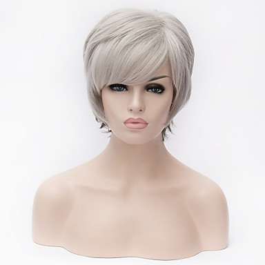 Synthetic Wig Straight Yaki Ombre Hair Blonde Women's Capless Natural Wigs Short Synthetic Hair