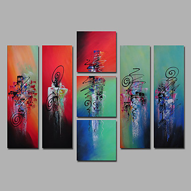 7 Pieces Abstract Mordern Art Canvas Paintings Home Decorations ...