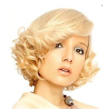 Peruci Sintetice Ondulat Stil Cu Breton Perucă Blond Blond Auriu Păr