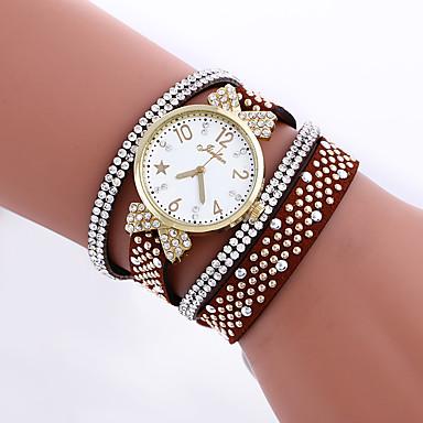 levne Dámské-Dámské Náramkové hodinky Křemenný Kůže Černá / Bílá / Modrá imitace Diamond Analogové dámy Motýl Simulovaná hodinky Diamond Módní - Červená Modrá Světle modrá Jeden rok Životnost baterie