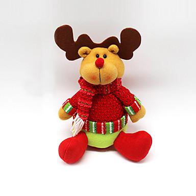 ตกแต่งวันคริสมาสต์ ของเล่นคริสมาสต์ Santa Suits Elk มนุษย์หิมะ สิ่งทอ Toy ของขวัญ 3 pcs