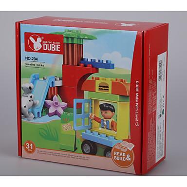 ของเล่นจิ๊กซอว์ สำหรับเป็นของขวัญ Building Blocks สี่เหลี่ยมจตุรัส / สุนัข / รถยนต์ พลาสติค ดังกล่าวข้างต้น 3 สายรุ้ง Toys