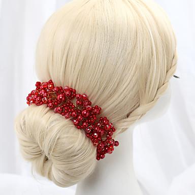 Kristall / Oäkta pärla / Legering Blommor med 1 Bröllop / Speciellt Tillfälle Hårbonad