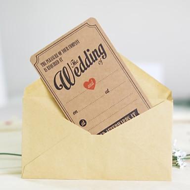 preiswerte Hochzeitseinladungen-Glatte Karte Hochzeits-Einladungen Anderen / Einladungskarten / Musterexemplar einer Einladung Klassisch Material / Hartkartonpapier Blume