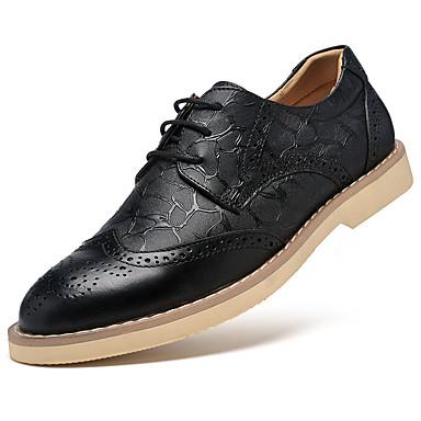 Hombre Zapatos Cuero de Napa Invierno Confort / Zapatos formales Oxfords Negro / Marrón ZDUpQCd