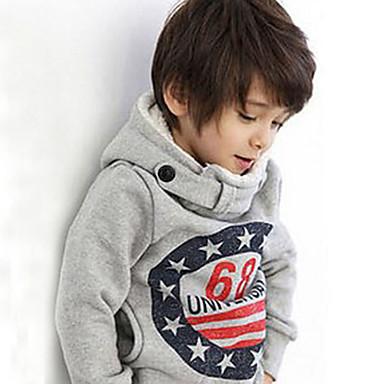 povoljno Odjeća za dječake-Dijete koje je tek prohodalo Dječaci Ležerne prilike Dnevno Galaksija Dugih rukava Regularna Trenirka s kapuljačom Sive boje