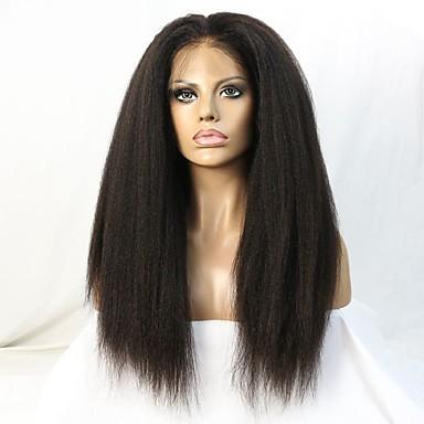 วิกผมจริง ลูกไม้หน้าไม่มีกาว มีลูกไม้ด้านหน้า วิก สไตล์ ผมบราซิล Straight ผมหยิกตรง วิก 130% 150% Hair Density 10-22 inch ผมเด็ก เส้นผมธรรมชาติ วิกผมแอฟริกันอเมริกัน 100% มือผูก สำหรับผู้หญิง Short