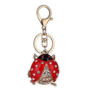 พวงกุญแจ ส่วนบุคคล ดีไซน์เฉพาะตัว รูปแบบสัตว์ แฟชั่น สไตล์น่ารัก Euramerican พลอยเทียม แหวนแฟชั่น เครื่องประดับ แดง สำหรับ