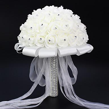 ดอกไม้ประดิษฐ์ 1 สาขา สไตล์เรียบง่าย กุหลาบ ดอกไม้วางบนโต๊ะ