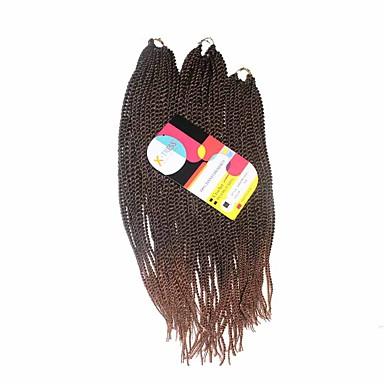 povoljno Ekstenzije za kosu-Kosa koja se plete Senegal Twist pletenice Ekstenzije od ljudske kose Sintentička kosa 81 korijena Sušilo za pletenice Dnevno