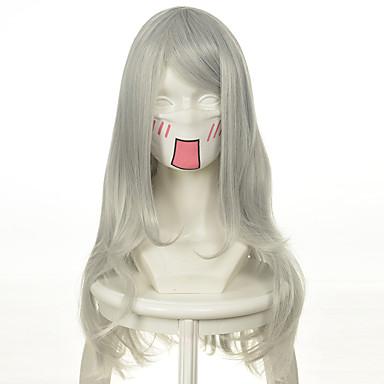 billige Kostymeparykk-Syntetiske parykker Kostymeparykker Bølget Stil Parykk Blond Lang Veldig lang Platinum Blond Syntetisk hår Dame Blond Parykk