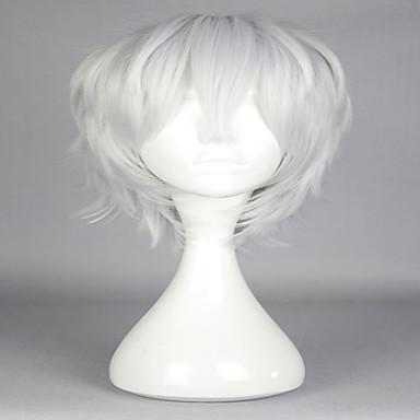 วิกผมสังเคราะห์ วิกคอสตูม ความหงิก ความหงิก ผมปลอม สีเงิน White สังเคราะห์ สำหรับผู้หญิง สีขาว Gray hairjoy