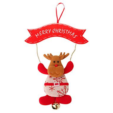 ตกแต่งวันคริสมาสต์ / ของขวัญวันคริสต์มาส / อุปกรณ์งานคริสต์มาส Elk แปลกใหม่ สิ่งทอ ของขวัญ 1 pcs