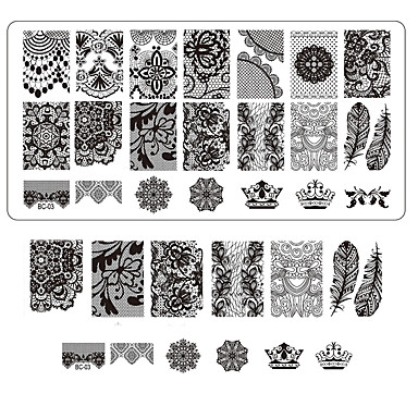 Lace Printing Nail Art Stamping Decor Diy Manicure Stamping Plates