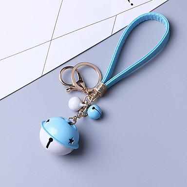 ระฆังรถพวงกุญแจที่ระลึกสร้างสรรค์เชือกหนังจี้กุญแจสำคัญในห่วงโซ่จี้ล่าสุด