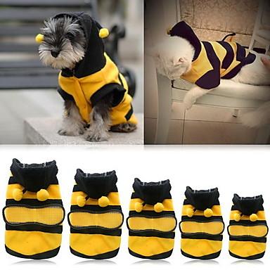 preiswerte Bekleidung & Accessoires für Katzen-Katze Hund Kostüme Kapuzenshirts Hundekleidung Gelb Kostüm Buldogge Shiba Inu Cocker Spaniel Baumwolle Tier Cosplay XXS XS S M L XL