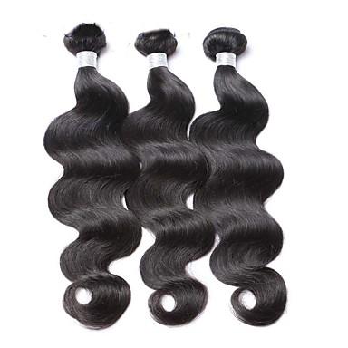 povoljno Ekstenzije od ljudske kose-3 paketa Malezijska kosa Tijelo Wave Virgin kosa Ljudske kose plete Isprepliće ljudske kose 8a Proširenja ljudske kose / 10A