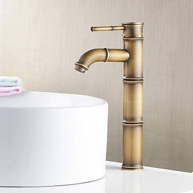 ก๊อกน้ำสำหรับห้องครัว - จับเดี่ยวหนึ่งหลุม นิกเกิลขัด มาตรฐานหัดดื่ม ตัวเจาะนำศูนย์ ร่วมสมัย / Art Deco / Retro / ที่ทันสมัย Kitchen Taps / Brass