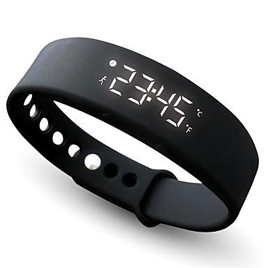 preiswerte Smart Aktivität, Clips & Armbänder-Damen Uhr Sportuhr Armband-Uhr Armbanduhr Silikon Schwarz / Blau / Rot Chronograph Stopuhr digital Freizeit Armreif Rot Grün Blau