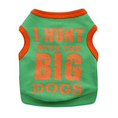 แมว สุนัข T-Shirt Dog Clothes สีดำ ส้ม สีเหลือง เครื่องแต่งกาย ฝ้าย ตัวอักษรและจำนวน ง่าย / ประจำวัน XS S M L