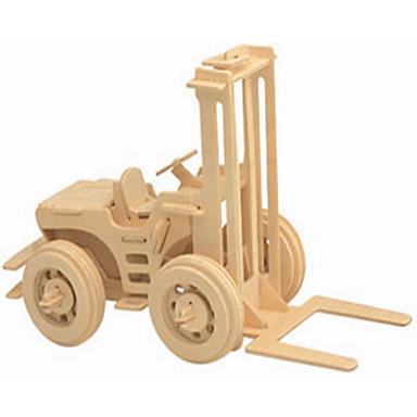 voordelige 3D-puzzels-Speelgoedauto's Houten puzzels Vorkheftruck professioneel niveau Puinen 1 pcs Vorkheftruck Jongens Meisjes Speeltjes Geschenk