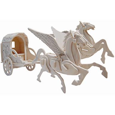 รถของเล่น ปริศนาไม้ การขนส่ง Horse ระดับมืออาชีพ ไม้ 1 pcs เด็กผู้ชาย เด็กผู้หญิง Toy ของขวัญ