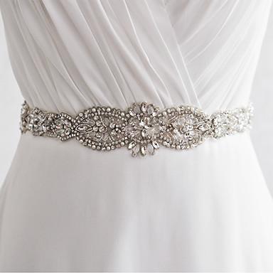 cheap Party Sashes-Satin Wedding / Party / Evening Sash With Rhinestone / Imitation Pearl / Beading Women's Sashes / Sequin