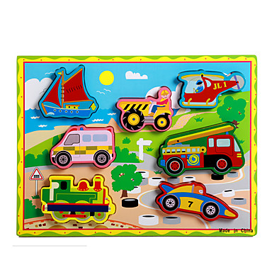 levne 3D puzzle-Puzzle / Vzdělávací hračka Vlečka / Auto / Kočár Zábavné Dřevo Chlapecké / Dívčí Dárek