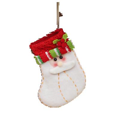 กระเป๋าของขวัญ Socks Santa Suits สิ่งทอ เสื้อผ้า Toy ของขวัญ 1 pcs