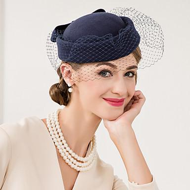 ขนสัตว์ / สุทธิ Kentucky Derby Hat / fascinators / หมวก กับ ดอกไม้ 1pc งานแต่งงาน / โอกาสพิเศษ / ที่มา หูฟัง