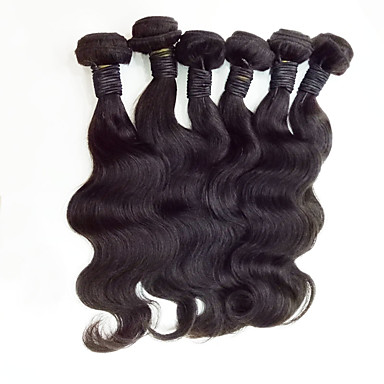 Malaysian Hair Virgin Human Hair Curly Body Wave Human Hair Weaves 6pcs 50g /pcs 8 - 30 inchHot Sale Natural Color Hair Weaves Natural Black