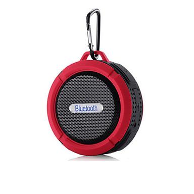 preiswerte Lautsprecher-Outdoor Wasserdicht Mini Tragbar Bult-Mikrofon Bluetooth 2.1 Wireless Bluetooth-Lautsprecher Schwarz Orange Rot Grün Blau