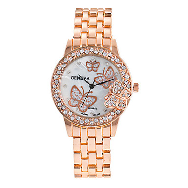 levne Dámské-Dámské Luxusní hodinky Náramkové hodinky Diamond Watch Stříbro / Zlatá / Růžové zlato Cool Punk Velký ciferník Analogové dámy Přívěšky Třpyt Vintage Na běžné nošení - Zlatá Stříbrná Růžové zlato