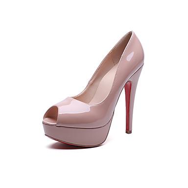 Mujer-Tacón Stiletto-Confort-Tacones-Vestido Informal-PU-Negro Rosa 5458486  2018 –  35.99 0a355f6c2309