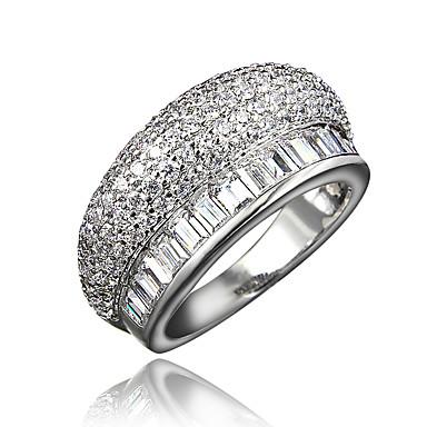 billige Motering-Dame Ring Kubisk Zirkonium Gull Hvit Gullbelagt 18K Gull damer Dubai Iced Out Bryllup Fest Smykker