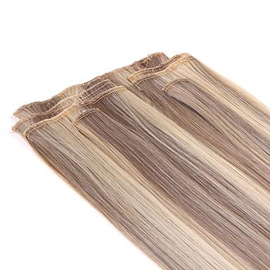 levne Syntetické příčesky-Clip In syntetický Prodloužení vlasů About 140g/set 22inch Prodlužování vlasů