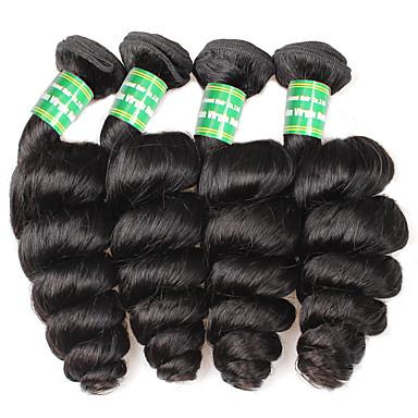 povoljno Ekstenzije od ljudske kose-4 paketića Brazilska kosa Valovita kosa Ljudska kosa Ljudske kose plete Isprepliće ljudske kose Proširenja ljudske kose / 8A