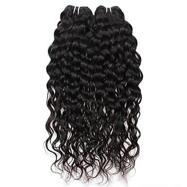 povoljno Ekstenzije od ljudske kose-2 Paketi Brazilska kosa Water Wave Ljudska kosa Ljudske kose plete Isprepliće ljudske kose Proširenja ljudske kose / 8A / Vodeni valovi