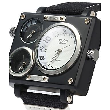 สำหรับผู้ชาย นาฬิกาแนวสปอร์ต นาฬิกาทหาร นาฬิกาข้อมือ นาฬิกาอิเล็กทรอนิกส์ (Quartz) ดำ / สีขาว / น้ำตาล ปฏิทิน แสดงสองเวลา เท่ห์ ระบบอนาล็อก ความหรูหรา คลาสสิก วินเทจ ไม่เป็นทางการ แฟชั่น -  / สองปี