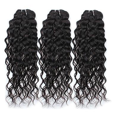 povoljno Ekstenzije od ljudske kose-3 paketa Brazilska kosa Water Wave Virgin kosa Ljudske kose plete 8-28 inch Isprepliće ljudske kose 6a Proširenja ljudske kose / 10A / Vodeni valovi